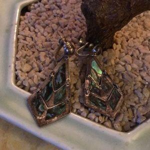 abalone LM alpaca Mexico screw back earring